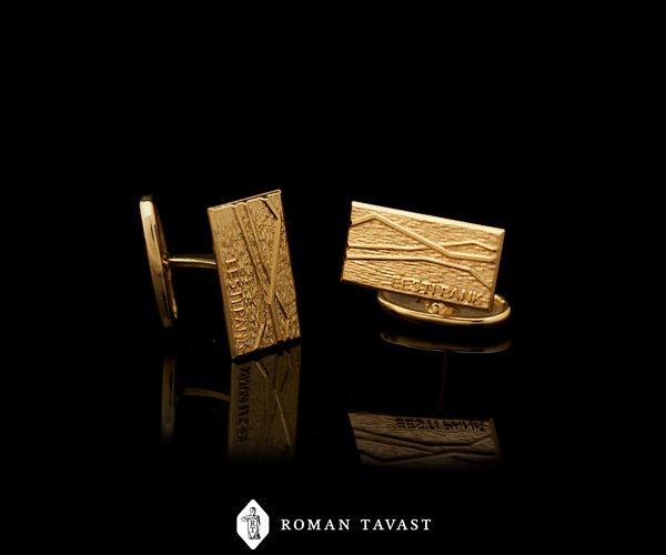 Cufflinks, gold plated