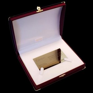 Business card made of 14K gold