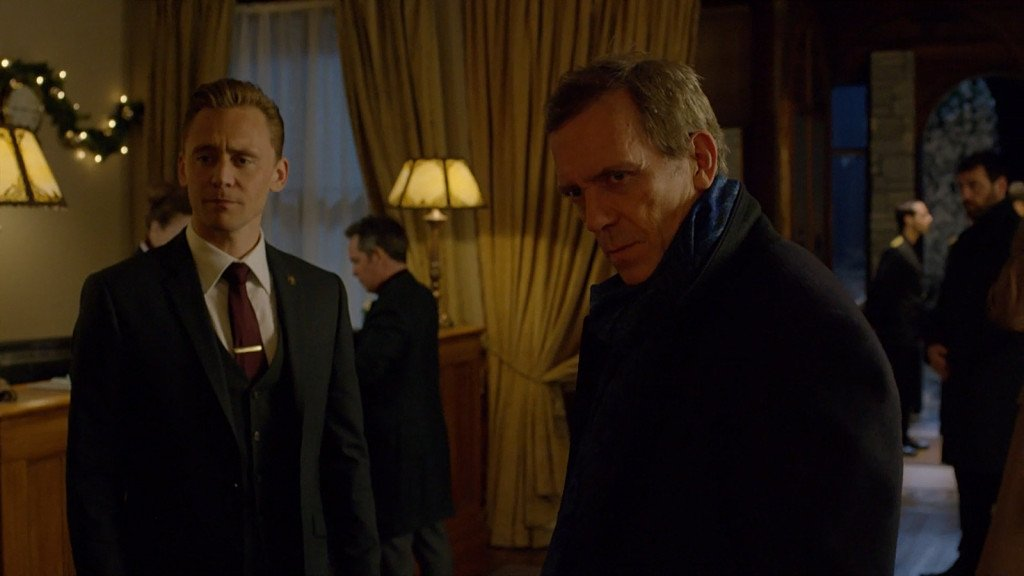 The Night Manager TV series with Tom Hiddleston and Hugh Laurie