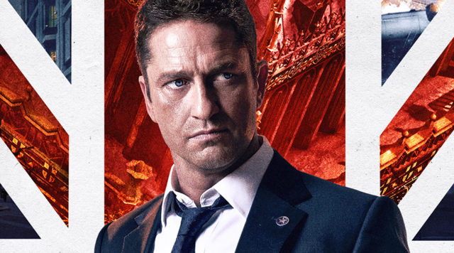 Gerard Butler wearing a lapel pin made by Roman Tavast