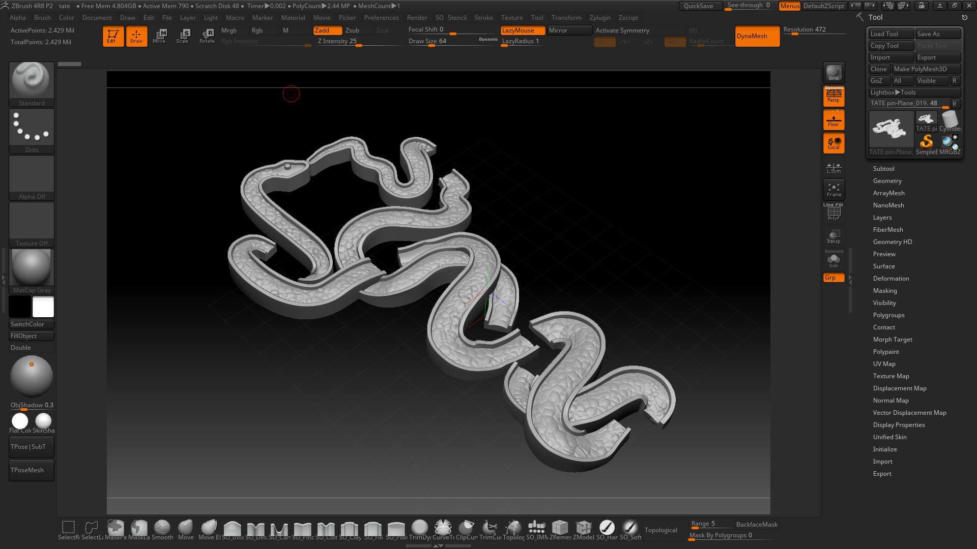 Tate Moderns lapel pin 3D designing