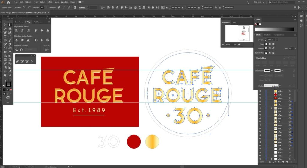 Designing  high-quality badges for Cafe Rouge