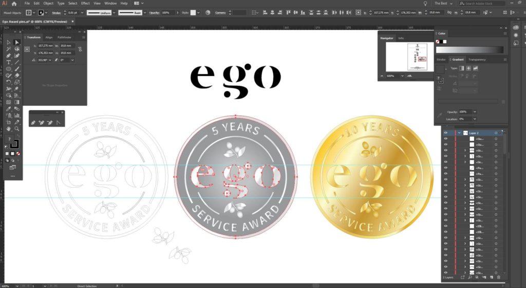 Roman Tavast badge maker company - design