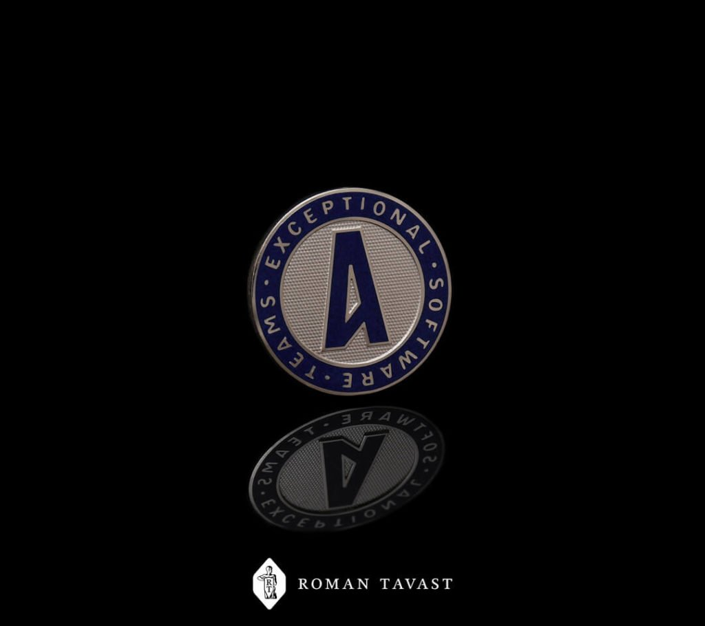 Very high-quality lapel pin for Amdaris