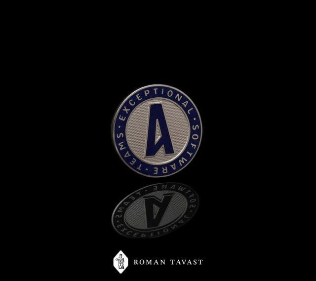 Amdaris enamel pin